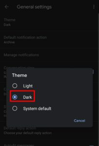 How to Enable Dark Mode on Gmail App (Android 10) Samsung in 2020